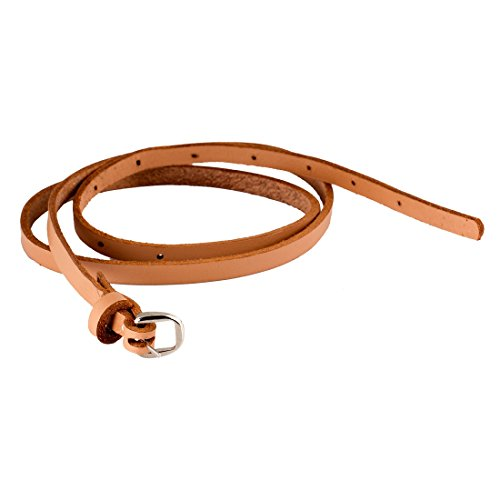 trysco Girls Casual Genuine Leather Tan/Natural Slim Belt Price in India