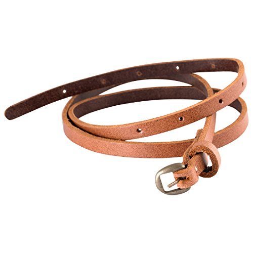 trysco Girls Casual Genuine Leather Brown Slim Belt Price in India