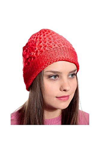 Krystle Red Woolen Cap for Women Price in India