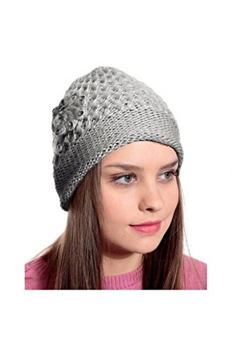 Krystle Grey Woolen Cap for Women Price in India