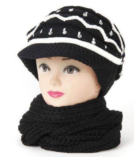 Krystle Women's Combo Of Winter Woollen Cap With Muffler And Gloves Price in India