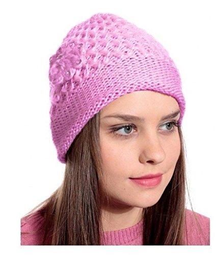 Krystle Pink Woolen Cap for Women Price in India