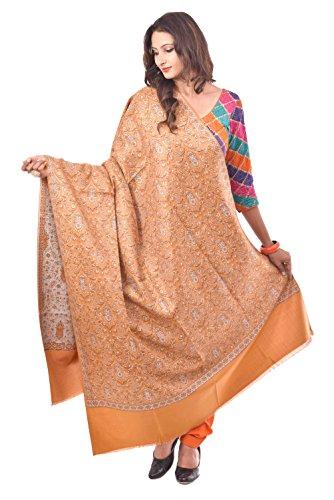 Weavers Villa - Women's Yellow Jamdani Designer Shawls, Stoles Price in India