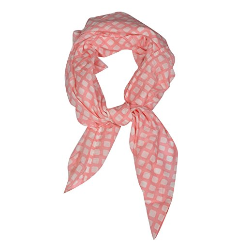 Girl's Floral Print 100 % Cotton Face Scarf Price in India