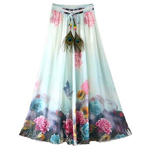 Clothfab Women's Crepe Digital Designer Printed Party Wear Stitched Skirt Price in India