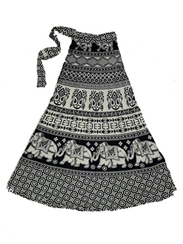 Chanchal Women;s Printed Warp Around Skrit1002 Price in India