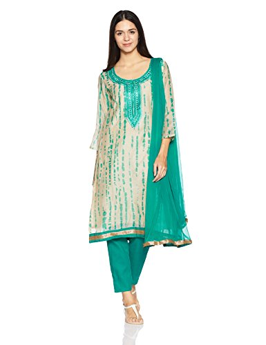 BIBA Women's Cotton Dress Material Price in India