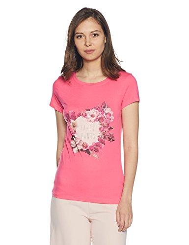 Symbol Women's Solid Round Neck Cotton T-Shirt Price in India