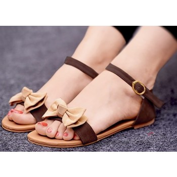 Pkkart Suede Brown Flats - WF020 Price in India