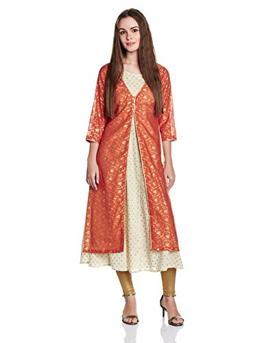 BIBA Women's Angrakha Kurta Price in India