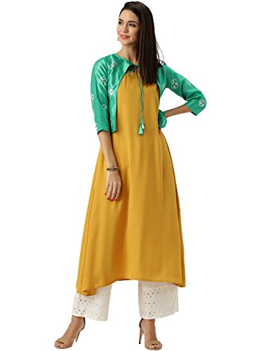 Libas Women's A-Line Crepe Kurta Price in India