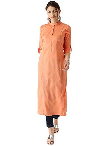 Libas Women's Straight Cotton Kurta Price in India