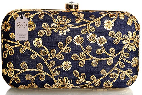 Mammon Women's Bridal Clutch with sling Price in India