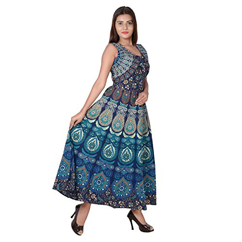 Jaipuri Fashionista Women's Cotton Maxi Dress Price in India