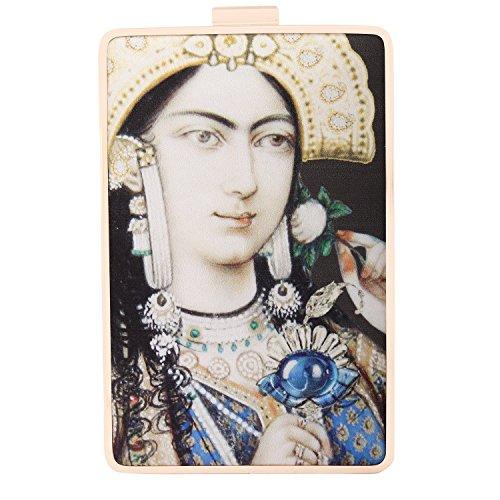 Puneet Gupta Mughal-e-azam Black Designer Clutch Price in India