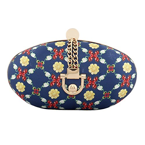 Puneet Gupta Rangoon Blue Designer Clutch Price in India