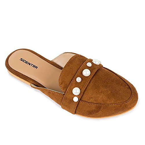 Scentra Brown Toe Slipper Price in India