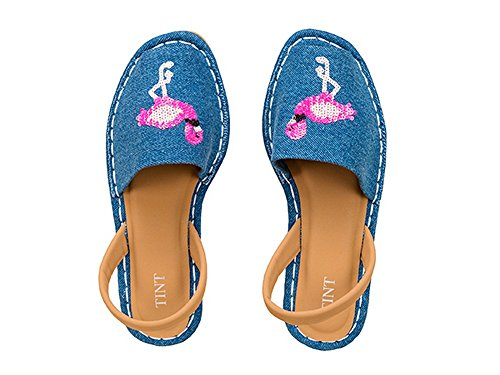 TINT Women's Fun-Tastic Blue Fashion Sandals - 6 UK/India Price in India