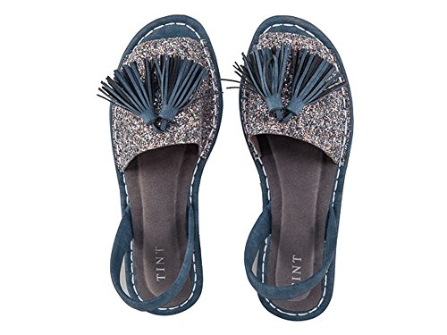 TINT Women's The Tassled Teaser Silver Fashion Sandals - 6 UK/India Price in India