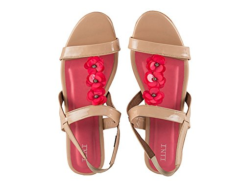 TINT Women's Summer Bloom Pink Fashion Sandals - 8 UK/India Price in India