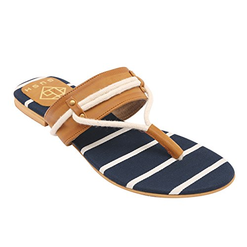 Gush Shoes & Accessories Women's Blue Flip-Flops - 7 UK/India Price in India