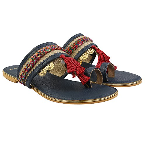 Gush Shoes & Accessories Women's Blue Fashion Sandals - 7 UK/India Price in India