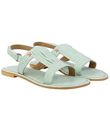 Gush Shoes & Accessories Women's Green Fashion Sandals - 7 UK/India Price in India