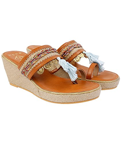 Gush Shoes & Accessories Women's Tan Fashion Sandals - 9 UK/India Price in India