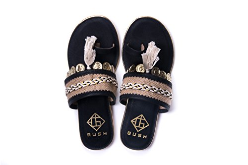 Gush Shoes & Accessories Women's Black Fashion Sandals - 6 UK/India Price in India