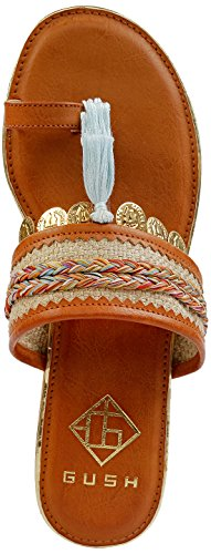 Gush Shoes & Accessories Women's Tan Fashion Sandals - 7 UK/India Price in India