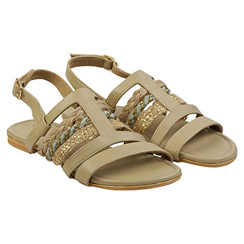 Gush Shoes & Accessories Women's Beige Fashion Sandals - 9 UK/India Price in India