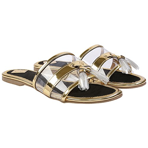 Gush Shoes & Accessories Women's Black Fashion Sandals - 7 UK/India Price in India