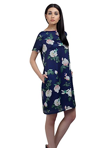 Ombre Lane Women's Shift Silk Knee-Long Dress Price in India