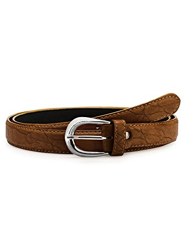 Verceys Trendy Brown Leather Finish Belt For Women - Free Size fit up tp 36 waist size Price in India