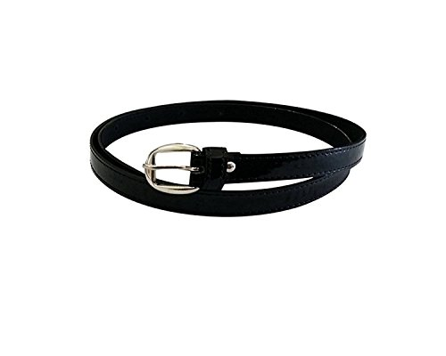 Krystle Women's Black PU leather belt Price in India