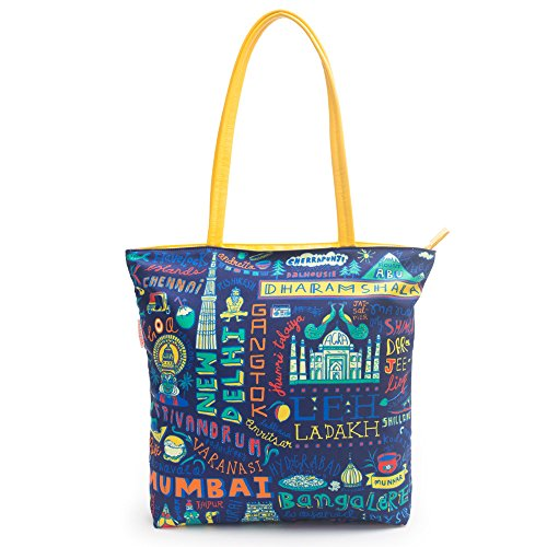 Chumbak Travel Diaries Polyester Tote Bag Price in India