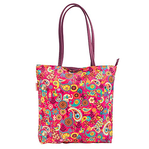 Chumbak Paisley Party Polyester Tote Bag Price in India