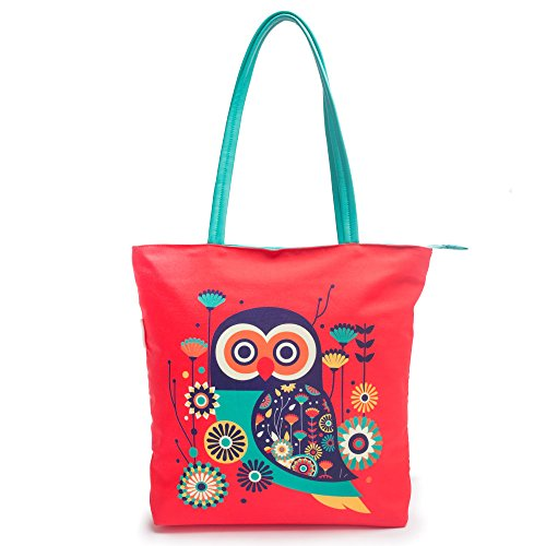 Chumbak Paisley Owl Polyester Tote Bag Price in India