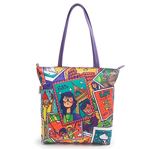Chumbak Live To Travel Polyester Tote Bag Price in India