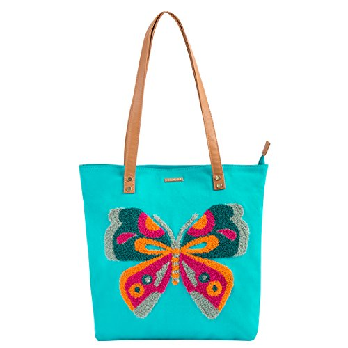 Chumbak Butterfly Mini Tote Bag -Teal Price in India