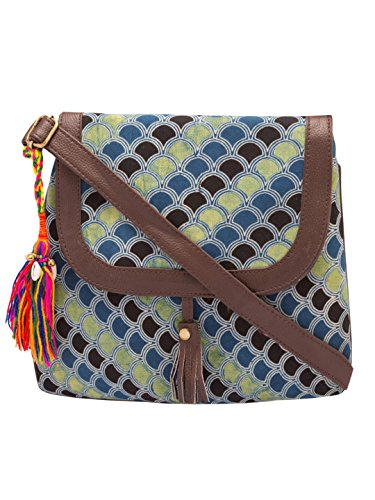 Vivinkaa Circle Ethnic Printed Sling Bag for Women Price in India