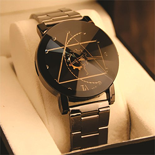 Skylofts Analogue Black Dial Ladies & Women Stainless Steel Watch Price in India