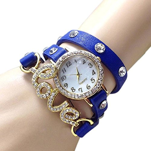 Orayan New Arrival Love Bracelet Blue Stylish Analog Watch For Girls & Women Price in India