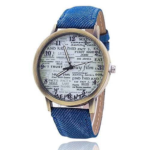 Zillion Printed Dial Blue Denim Strap Blue Analog Watch For Women, Girls Price in India