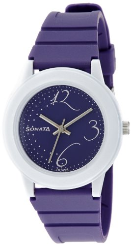 Sonata Fashion Fibre Analog Black Dial Women's Watch -NJ8992PP02C Price in India