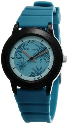 Sonata Fashion Fibre Analog Turquoise Dial Women's Watch -NJ8992PP01C Price in India
