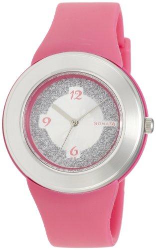 Sonata Fashion Fibre Analog Silver Dial Women's Watch -NK8991PP01 Price in India