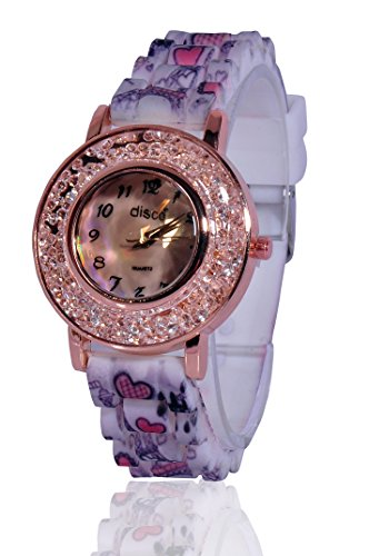 Fusine™ Disco Fashion Rosegold Fiber Watch For Women Price in India
