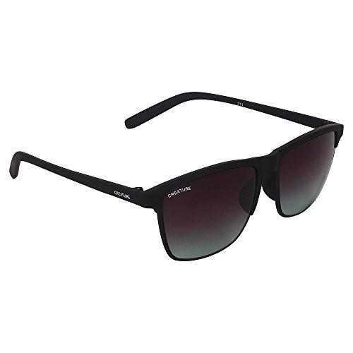 CREATURE Matt Finish Club Master Wayfarer Uv Protected Unisex Sunglasses Price in India