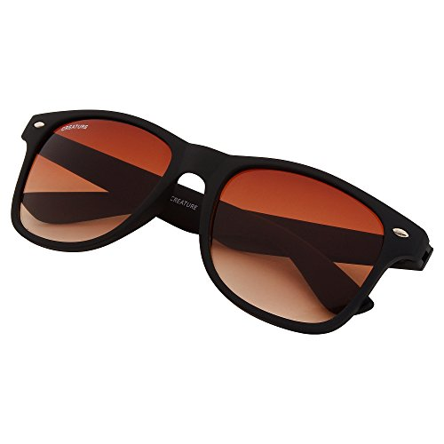 Creature Matt Finish Club master Wayfarer Uv Protected Brown Sunglasses Price in India